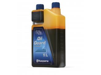 Olej Husqvarna Oilguard pre dvojtaktné motory, dávkovacia nádoba, 1 liter (balenie 12 ks)